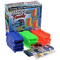 Детский светящийся гибкий Автотрек  Magic Tracks/ Магический трек  55-6 -165дет., микс цветов, машина 1шт (св