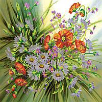 Схема для вышивки бисером на натуральном художественном холсте Брызги лета