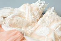 Ажурное платье с длинным рукавом для девочки 2-3-4-5 лет