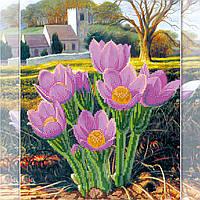Схема для вышивки бисером на натуральном художественном холсте Весна в Провансе