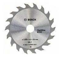 Диск пильный по дереву  BOSCH Optiline ECO 160х20x18