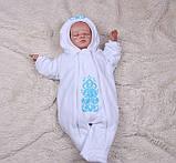 Утепленный комбинезон для малышей Вензеля (0-6 мес), фото 3