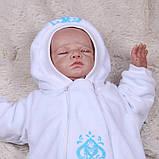 Утепленный комбинезон для малышей Вензеля (0-6 мес), фото 4