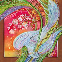 Схема для вышивки бисером на натуральном художественном холсте Райская птица