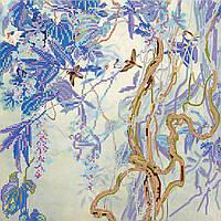 Схема для вышивки бисером на натуральном художественном холсте Утро в лианах