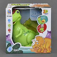 Динозавр 2801 (48/2) подсветка, 2 цвета, на батарейке, в коробке