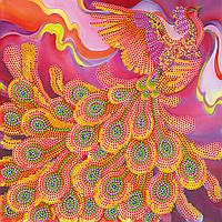 Схема для вышивки бисером на натуральном художественном холсте Огненная птица