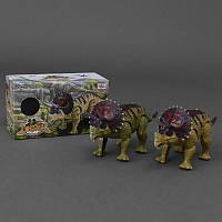 Динозавр WS 5315 (60) подсветка, звук, 2 вида, на батарейке, в коробке