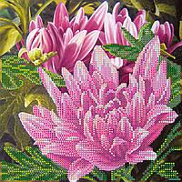Схема для вышивки бисером на натуральном художественном холсте Розовый лотос