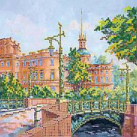 Схема для вышивки бисером на натуральном художественном холсте Мост влюбленных