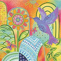 Схема для вышивки бисером на натуральном художественном холсте Экзотическая птица