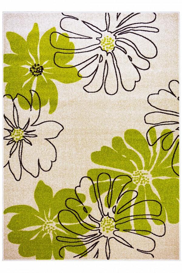 Килим Optima Bouquet, колір бежево-зелений