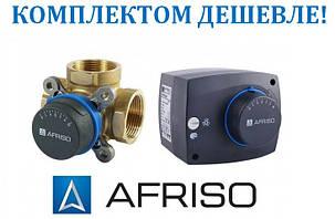 Комплект для регулювання Afriso: 3-ходовий клапан ARV 384 + привід ARM 323