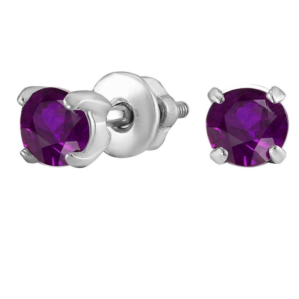 Серьги из серебра с куб. циркониями  182244
