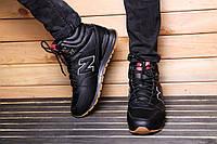 Кроссовки на меху New Balance 696 Black зимние кожа