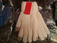 Женские перчатки теплые сенсорные смартфон