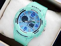 Спортивные наручные часы Casio Baby-G bga-210  бирюзового цвета