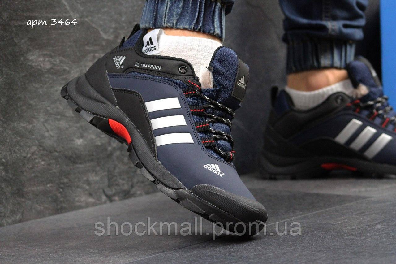 284adf92 Купить Зимние кроссовки Adidas Climaproof синие нубук мех Вьетнам ...