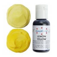 107 Lemon yellow (лимонно-жёлтый), пищевой гелевый краситель, AmeriColor, США
