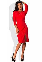 Платье миди приталенное красного цвета