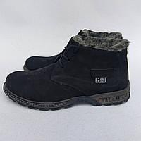 Мужские зимние ботинки CAT Caterpellar НА МЕХУ в наличии. Черные Размер 44