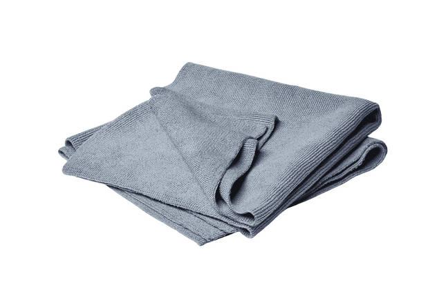 Набір рушників мікрофіброві без кромки - Flexipads Glazing 40x40 див. 2 шт. синій (40536), фото 2