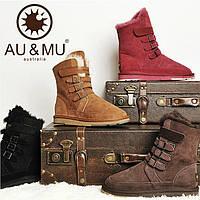 Au& Mu, зимние ботинки, угги  на меху