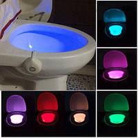 Подсветка для унитаза туалета (LED + датчиком движения и света).Ночник
