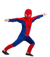 Детский карнавальный костюм Человека - паука  синий велюр