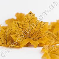 Листья осенние декоративные, желтый клен 8 × 9 см, 100 шт.