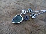 Красивое колье, ожерелье с камнем лабрадор в серебре. Индия!, фото 6