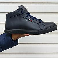 Мужские зимние кожаные ботинки Tommy Hilfiger НА МЕХУ в наличии. РАЗМЕР 42-45