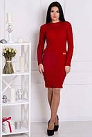 Зимнее бордовое платье ОСЕНЬ ТМ Irmana 48-54 размеры
