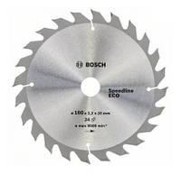 Диск пильный по дереву  BOSCH Speedline ECO 160х20x24