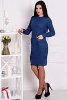 Зимнее платье ОСЕНЬ джинс ТМ Irmana 48-54 размеры