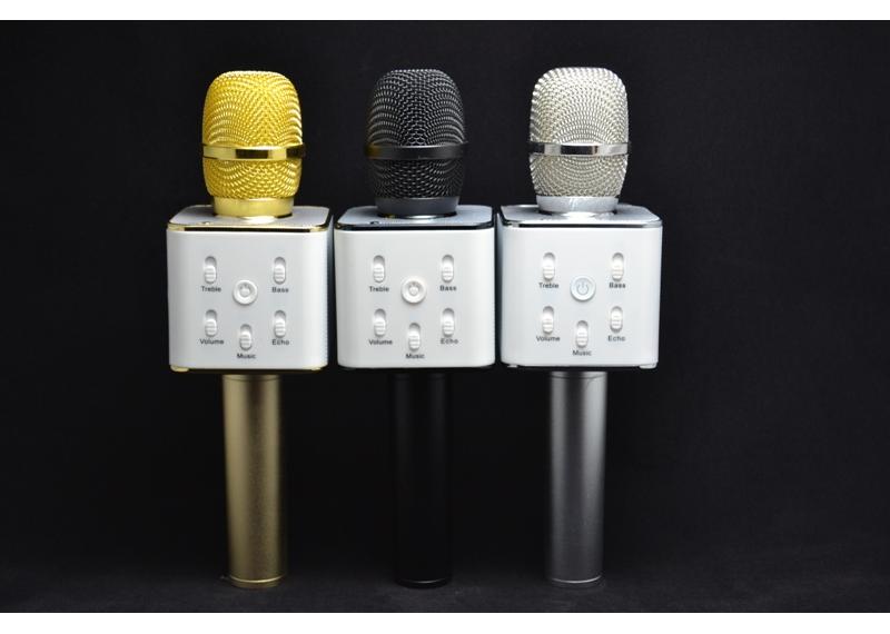 Микрофон караоке Q7 + встроенная колонка - Интернет магазин Фортуна в Одессе