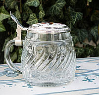 Коллекционная кружка, пивной бокал, стекло, олово, Германия BMF, фото 1