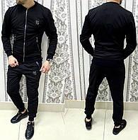 Спортивный костюм Philipp Plein D2274 черный бомбер теплый