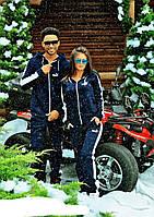 Зимний тёплый спортивный костюм PUMA трикотаж 3 нитка + начёс, Турция, синий