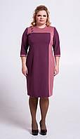 Платье-футляр из костюмки П105