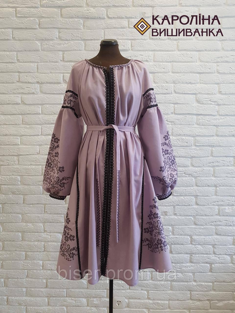Пошите жіноче плаття під вишивку ( лілове бохо) - Интернет-магазин  «Роксолана» 5aa33584b54a0