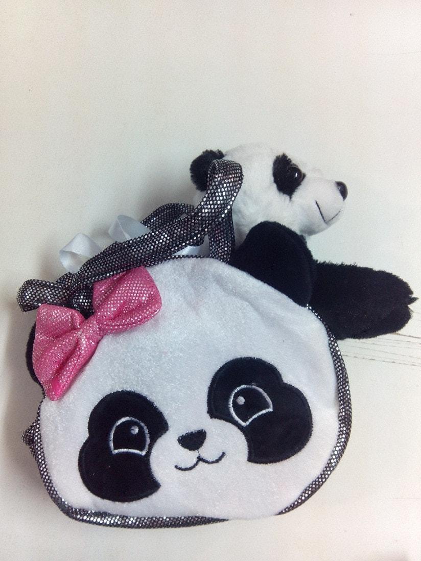 Сумка панда, с игрушкой