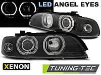 Фары передние тюнинг оптика BMW E39 черные LED xenon
