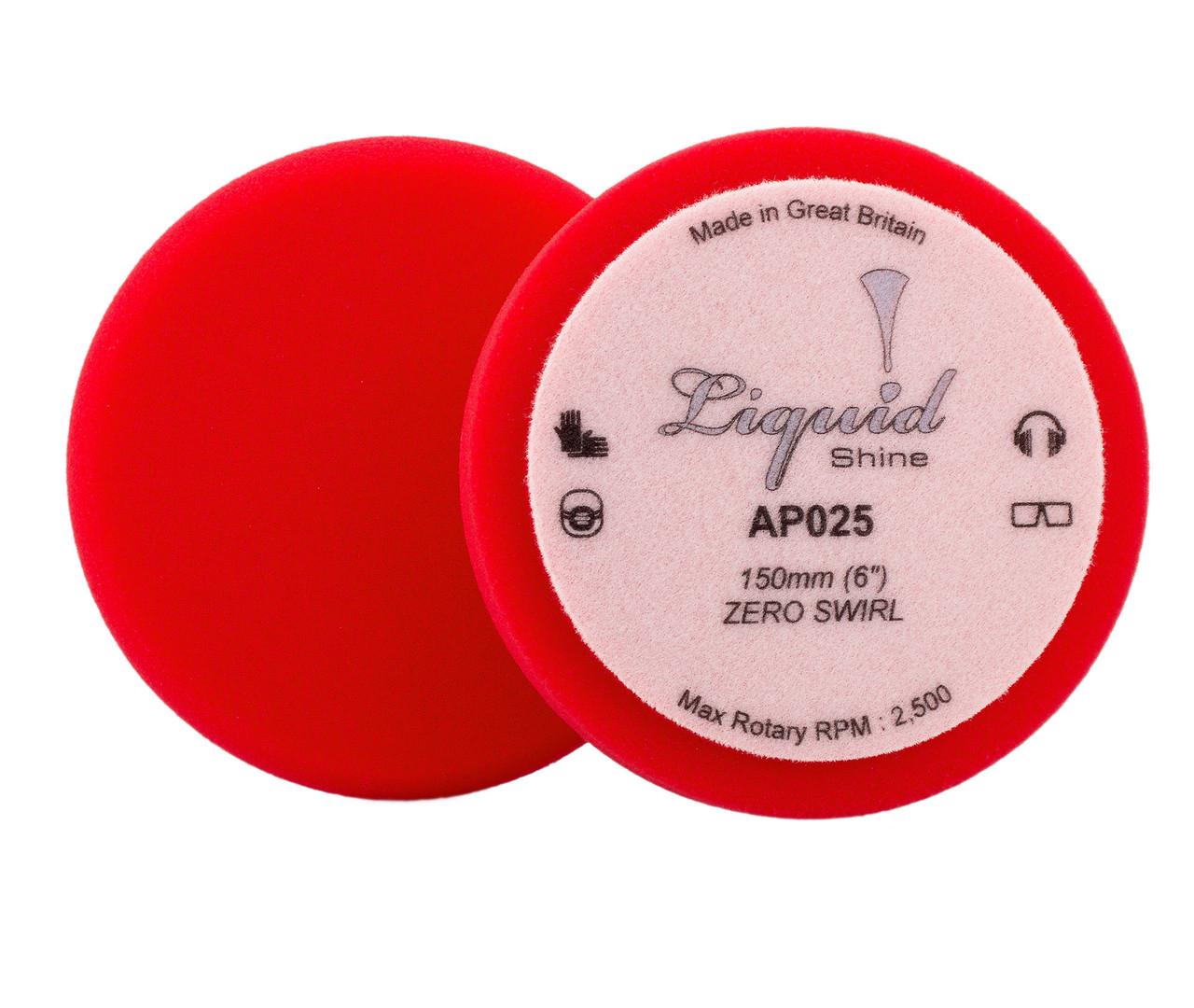 """Набор полировальных кругов мягкий - Flexipads Liquid Shine Zero Swirl 150 мм. (6"""") красный 2 шт. (AP025)"""