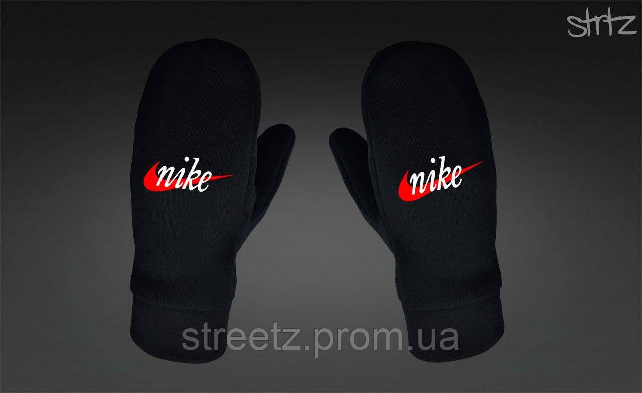 Варежки Nike Fleece Mittens черные