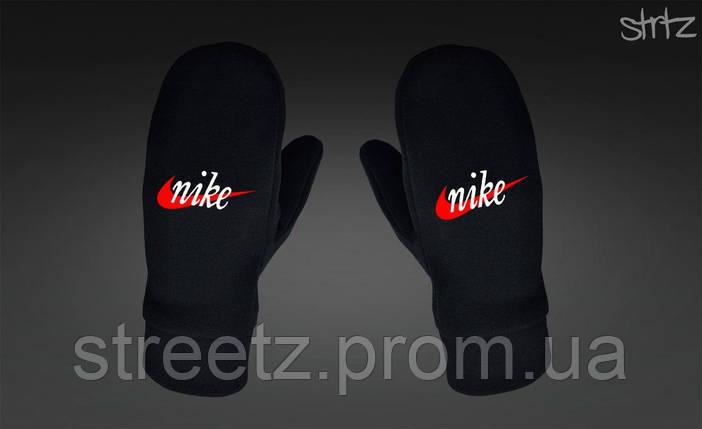 Варежки Nike Fleece Mittens черные, фото 2
