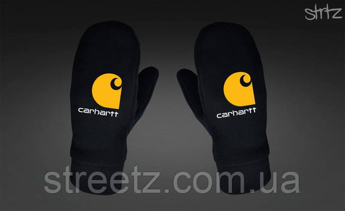 Варежки Carhartt Fleece Mittens черные, фото 2