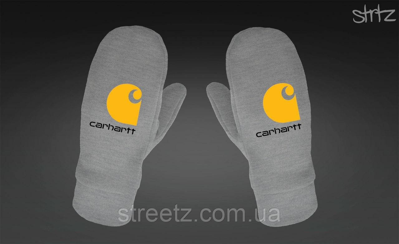 Варежки Carhartt Fleece Mittens серые