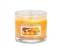 """Ароматическая свеча """"Апельсин Корица"""" в стекле Village Candle. 36 гр/ 10 часов"""