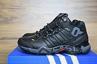41 размер Зимние мужские кроссовки Adidas Fastr черные 3088